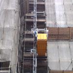 ascensore da cantiere su palazzo sai general nord ponteggi torino
